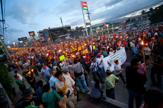 protests in honduras