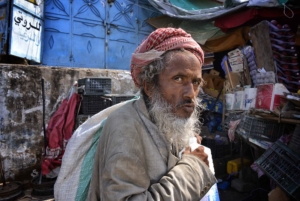 Man in Yemen, one of many countries affected by poverty in MENA