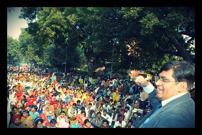 Ashok Bharti inciting Bangladesh Crowd