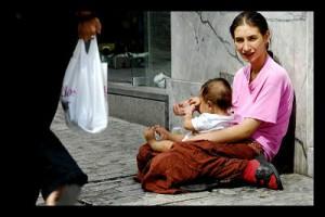 Child Panhandling Greece