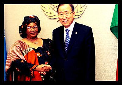 HE Joyce Banda President Malawi Ban Ki Moon UN General Assembly