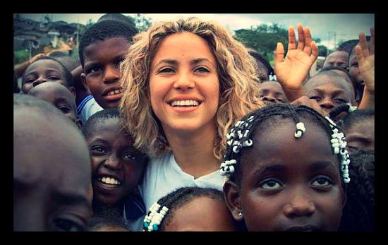 Shakira with UNICEF