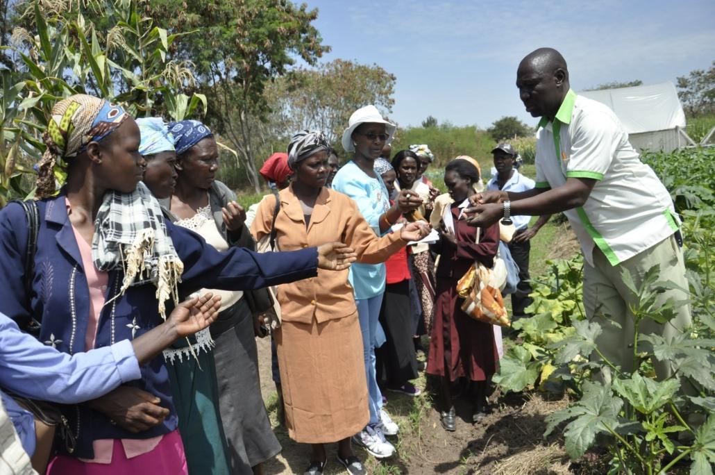 Teaching Women Biointensive Agriculture
