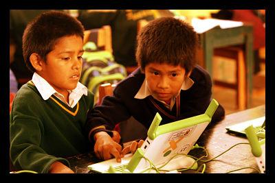 Technology Won't Solve World Hunger Kids Using Laptop