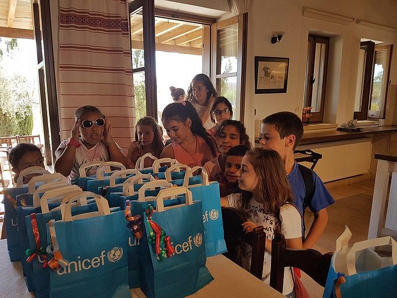 Tuba Büyüküstün with UNICEF