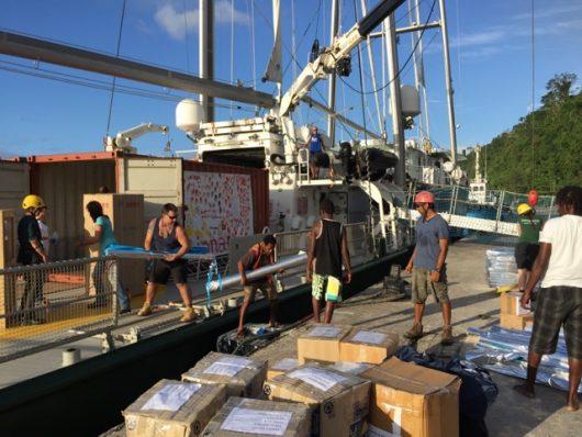 humanitarian aid to vanuatu