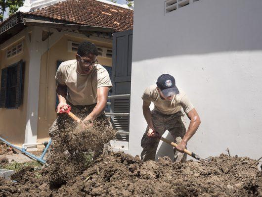 humanitarian aid to cambodia